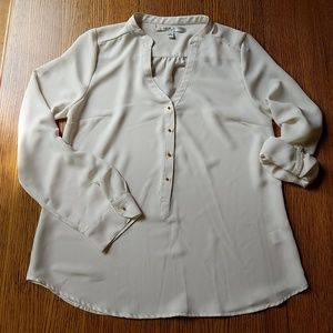 LC Lauren Conrad Sheer Ivory Blouse